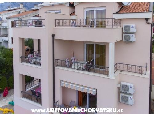 Apartm�ny Jelena i Bojka - Ba�ka Voda Chorvatsko