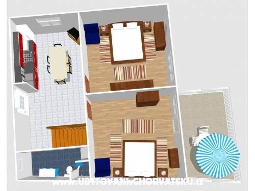 Apartm�ny �ari� - Gradac � Podaca Chorv�tsko