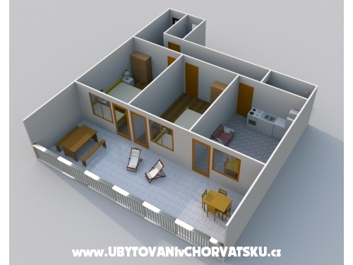 Apartmány Kosović I. - Gradac – Podaca Chorvatsko