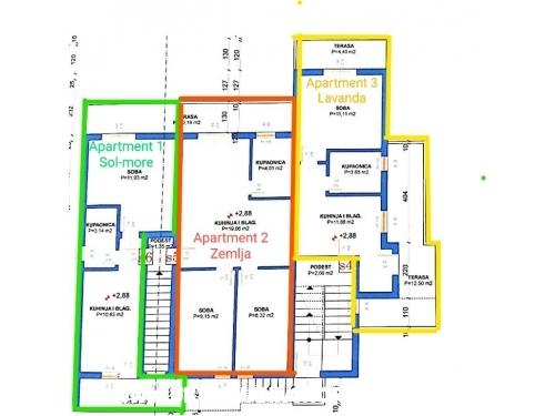 Apartm�ny Nikolic Podaca - Gradac � Podaca Chorv�tsko