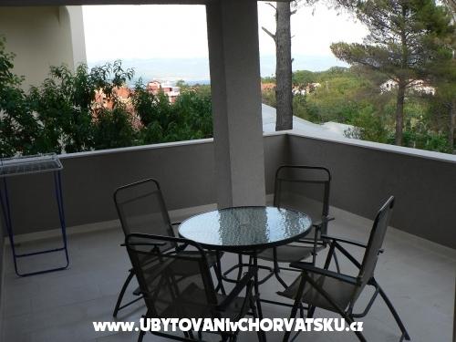 Apartmány Vila Maslina - ostrov Krk Chorvatsko