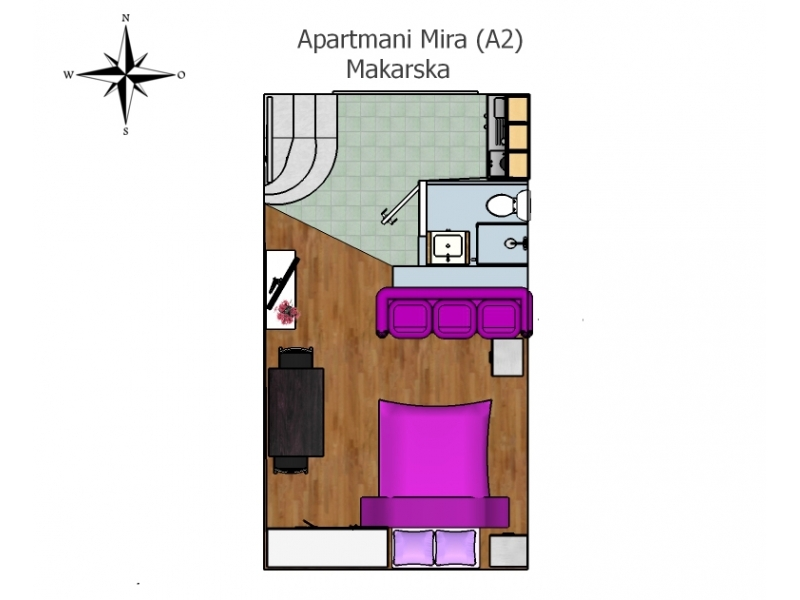 Appartements Mira - Makarska Croatie