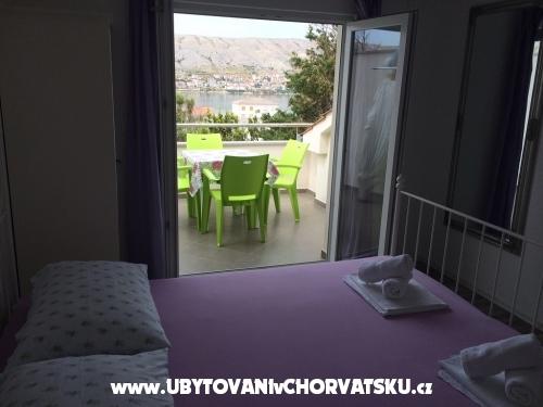 Apartmány Gligora - ostrov Pag Chorvatsko