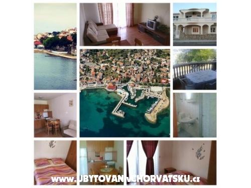 Apartmány Tkon-Muscet - ostrov Pašman Chorvátsko