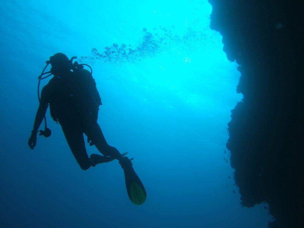 potápění Alains cliff / útes