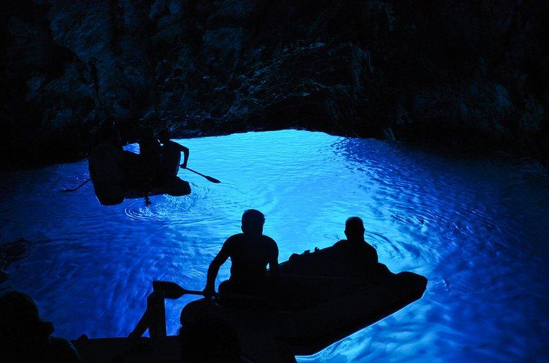 potápění Modrá jeskyně Biševo