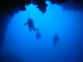 potápění Jeskyně na Rt Ključ