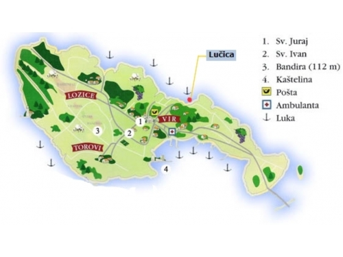 Apartmani Ceglec - ostrov Vir Hrvatska