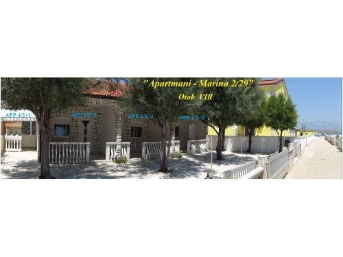 Apartmány Marina 2/29 - ostrov Vir Chorvátsko